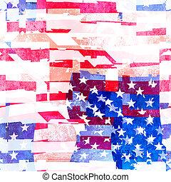 Seamless American Flag Collage Design
