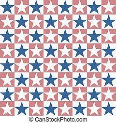 Seamless American Star Pattern