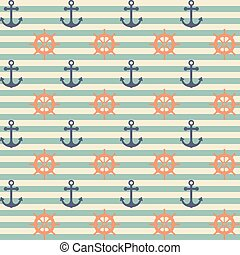 seamless anchor pattern and background vector illustration