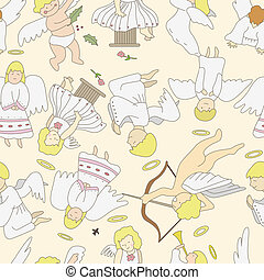 seamless angel pattern