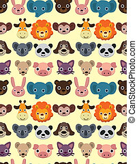 seamless animal face pattern