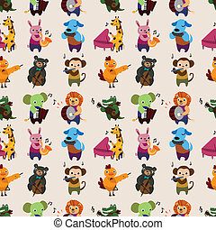 seamless animal music pattern