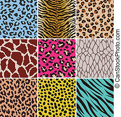 Seamless animal skin fabric