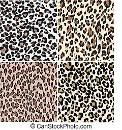 seamless, animale, stampa leopardo