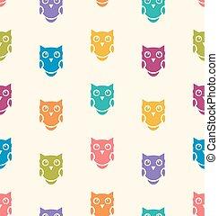 Seamless Animals Owl Pattern