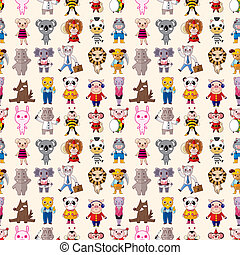 seamless animals pattern