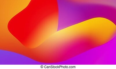 seamless, animation, fluide, ondulé, surface., boucle, 4k, résumé, lueur, jaune rouge, gradient