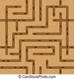 seamless ant background - Seamless background of tunneling...