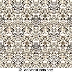 Seamless antique brown floral wallpaper