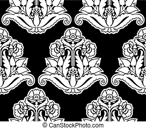 Seamless antique damask pattern