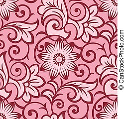 Seamless antique floral pattern