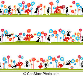 Seamless ants pattern