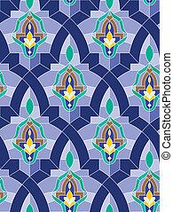 Seamless arab mosaic - Seamless mosaic pattern in arab style...