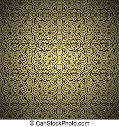 Seamless arabic ornament pattern - Vector Seamless arabic...