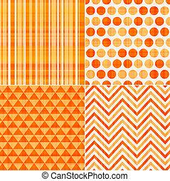 seamless, arancia, struttura, modello