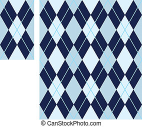 seamless argyle pattern (vector) - seamless argyle pattern,...