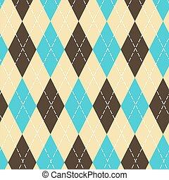 Seamless argyle pattern with chaotic golden dots....