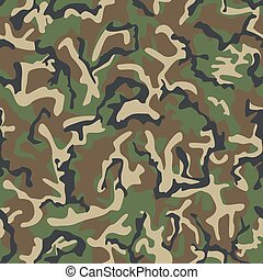 Seamless army classic camouflage pattern.