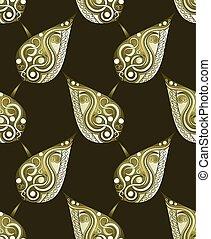 Seamless artistic leaves pattern