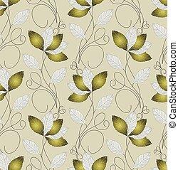 Seamless artistic leaves wallpaper