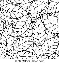seamless, astratto, nero, autunno parte, fondo