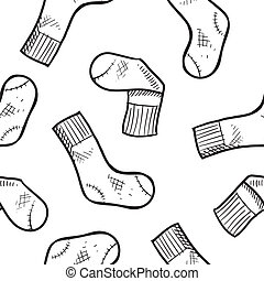 Seamless athletic socks background - Doodle style seamless...