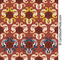 seamless auspicious clouds pattern