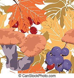 Seamless autumn background - Seamless colorful background...