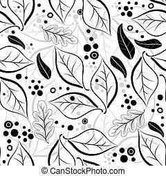 Seamless autumn floral pattern