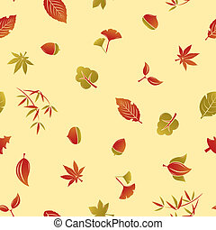 Seamless Autumn Foliage Pattern