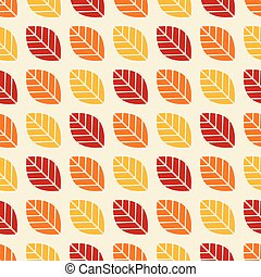 Seamless autumn leaf pattern background