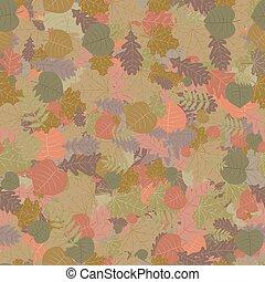 Seamless autumn leaves.