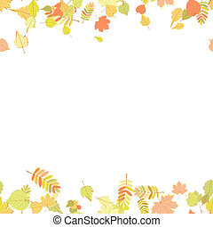Seamless autumn leaves pattern.