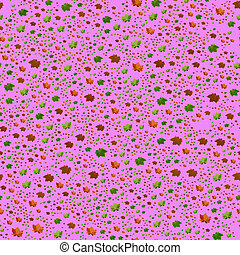 Seamless Autumn Leaves Pattern on pink Background