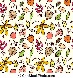 Seamless Autumn Leaves Texture