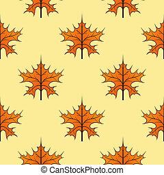Seamless autumn maple leaves