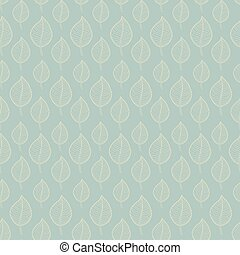 Seamless Autumn pattern on a green background