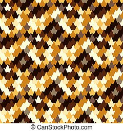 Seamless autumn pattern. Stylized image of a tree leaf....