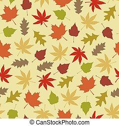 Seamless autumnal pattern
