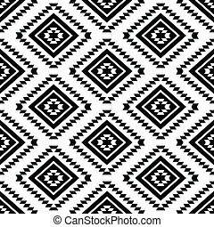 seamless, aztec, 種族, パターン