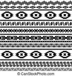 Seamless aztec pattern. - Ethnic seamless pattern. Aztec...
