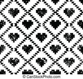 Seamless aztec tribal pattern