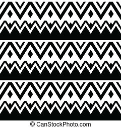 seamless, azteca, tribal, patrón