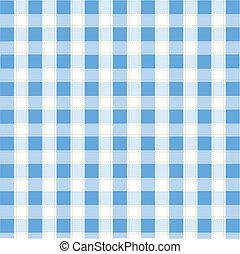 seamless, azul, tartán, patrón