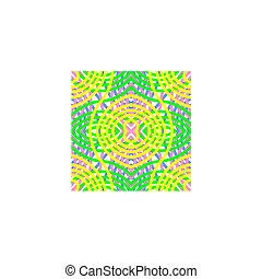 seamless, azulejo, curvado, padrão, em, verde, cor-de-rosa, amarelo azul