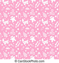 Seamless Baby Background - Illustration design of a seamless...