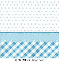 seamless, baby blå, mønster