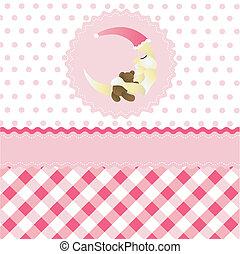 seamless baby girl pattern