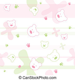 Seamless baby pattern - Cute seamless baby pattern