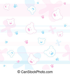 Seamless baby pattern - Cute seamless baby pattern